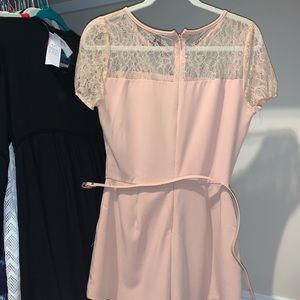 Blush romper with lace
